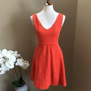 Anthropologie Maeve Fit & Flare Dress Cut Out Back